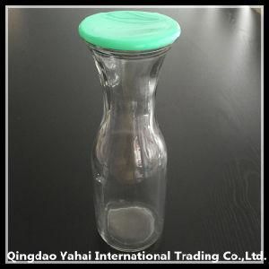 900ml Glass Juice Bottle with Plastic Lid pictures & photos