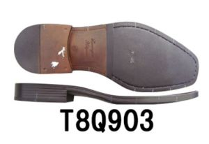 Men′s Leather Shoe Sole TPR Sole Dress Shoe Sole (T8Q903) pictures & photos