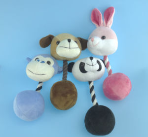 Plush Pet Rabbit Toy with Rope and Squeaker pictures & photos