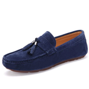 Leather Shoe Casual Tassels Flat Loafer Men Driving Shoes (AK9037) pictures & photos