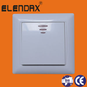 Elendax Wall Electrical Switch with Light Turn-off (F6101) pictures & photos