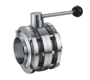 Sanitary Three Piece Butterfly Valve pictures & photos