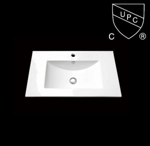 Ceramic Bathroom Cabinet Wash Basin with Cupc Certification (SN1548-75) pictures & photos