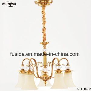 Chandelier Pendant Crystal Lamp Graceful Glass Cup Lampshade Lighting D-6108/5 pictures & photos