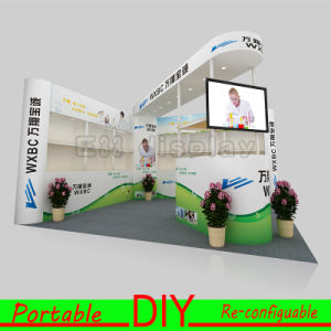 Custom Made Portable Modular Cosmetic Display Standard Exhibition Booth Stand pictures & photos