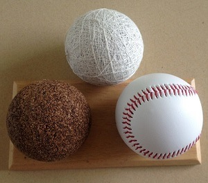 "9"" Cork Center PVC Leather Baseball"