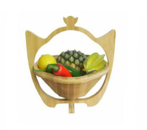 OEM New Nature Bamboo Fruit Basket pictures & photos