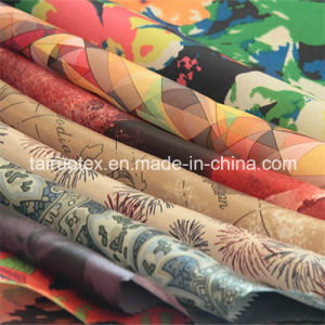 Printed Microfiber of Polyester Pongee for Garment Fabric pictures & photos