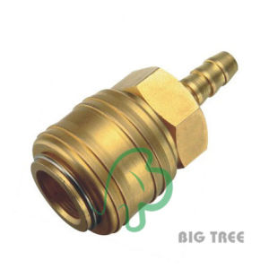 Europe Type Pneumatic Quick Coupling/Coupler Hose End, Brass pictures & photos