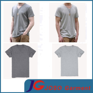 Men′s Half Sleeve V Neck T-Shirt (JS9027m) pictures & photos