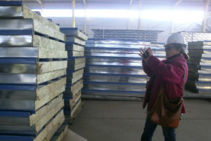 Fireproof Thermal Insulation Rockwool Sandwich Panel pictures & photos