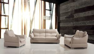Fashionable Genuine Modern Leather Sofa Made in China pictures & photos