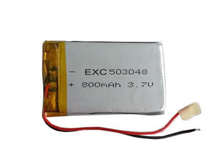 3.7V 800 mAh Rechargeable Lithium-Polymer Battery 503048 pictures & photos