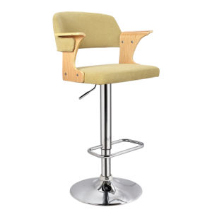 Wooden and Fabric Furniture Height Adjustable Bar Chair (FS-WB1961-1) pictures & photos