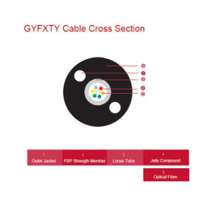FRP Strength Central Loose Tube Outdoor Optical Cable GYFXTY pictures & photos
