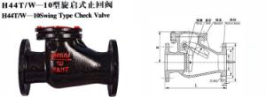 "Swing Check Valve H44W-16p 301/304/316L (1/2""-16"") pictures & photos"