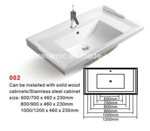 Sanitary Ware Bathroom Cabinet Ceramic Basin (No. 002) Ceramic Basin pictures & photos