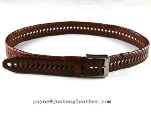 Handmade Braided Belt Genuine Leather Belt pictures & photos