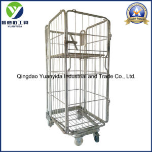 Nestable Zinc Plated Supermarket and Warehouse Roll Pallet/Roll Container pictures & photos