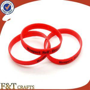 Promotional Souvenir Gift Custom Logo Silicone Bracelet pictures & photos