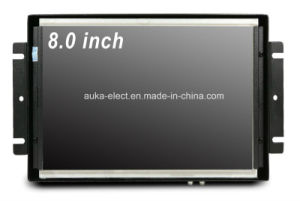"Customized 8"" Metal Frame LCD Display with VGA/HDMI/AV Input pictures & photos"