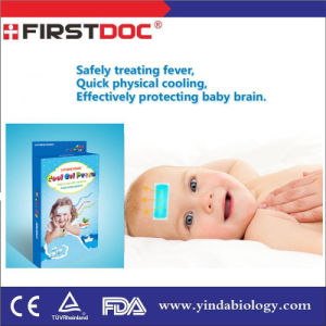 Free Sample Hot Selling Chinese Medicate Cool Ease Baby Fever Fruit Cooling Gel Patch