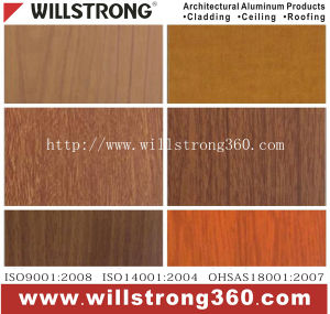 0.21mm Wood Grain Prepainted Aluminum Coil pictures & photos