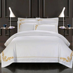 Top Quality 100% Satin Cotton Embroidery Bedding Set (DPF2426) pictures & photos