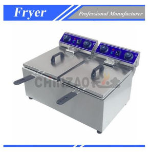 Commercial Double Tank Electric Counter Top Deep Fryer Dzl-172b pictures & photos