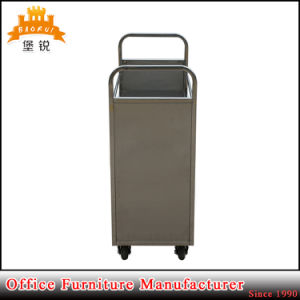 Stainless Steel Mobile Library Metal Book Cart pictures & photos