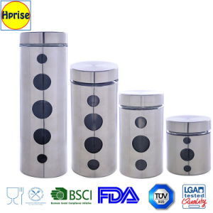 Wholesale Stainless Steel Glass Canister