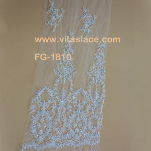 Ivory Rayon Beaded Corded Wedding Lace Fromchina Factory Fg-1810bc pictures & photos