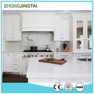 White Wholesale Solid Surface Prefabricated Kitchen Quartz Top Prices pictures & photos