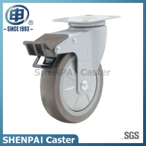 "4"" Super TPE Swivel Locking Caster Wheel pictures & photos"