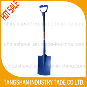 Hot Sale- Plastic D Type Grip Steel Flat Shovel pictures & photos