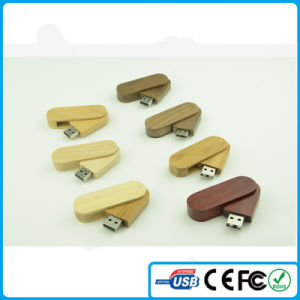 China Wholesale Wooden USB Pendrive 4GB with Customized Logo Printing