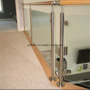42mm Round Post Staircase Stainless Glass Railing(HR1371A) pictures & photos