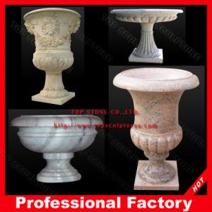 Hand Carved Garden Stone Urns, Marble Planter, Marble Flowerpot pictures & photos