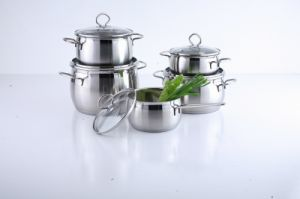 10-Piece Apple Shape Stainless Steel Cookware Set with Stainless Steel Wire handle pictures & photos