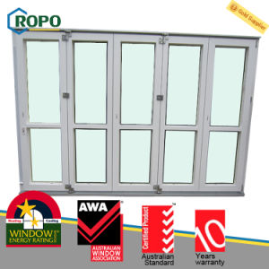 Australian Standard Double Glazing UPVC/PVC Plastic Folding Door Design pictures & photos