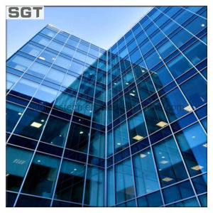 Insulated Low Emissive Clear Tinted Hollow Low-E Facade Glass Curtain Wall Glass pictures & photos