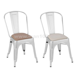 Commercial Use Iron Steel Backrest Dining Chair (ALU-05001) pictures & photos