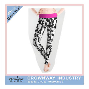 Popular Sublimation Printing Women Patterned Leggings with High Waist pictures & photos