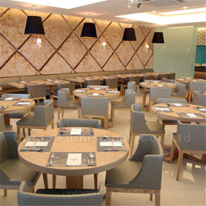 Modern 4 People Wooden Restaurant Seating Furniture (SP-CS105) pictures & photos