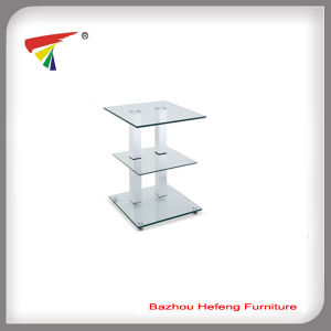 Furniture Supplier Square Movable Glass Corner Table (C31) pictures & photos