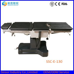 High Quality Radiolucent Hospital Electric Operating Surgical Table Price pictures & photos