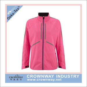 Women Breathable 100% Polyester Lightweight Waterproof Jacket for Running pictures & photos