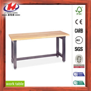 Finger Joint Solid Wood Work Table pictures & photos