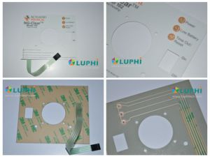 Flexible Circuit Industrial Control Keypad Membrane Switch with LED Backlighting pictures & photos