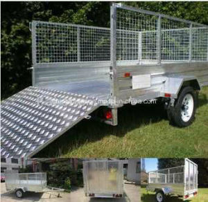 7X5FT Hot Dipped Galvanized Box Trailer with Cage pictures & photos